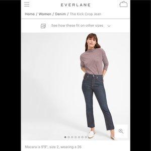 Everlane kick crop denim